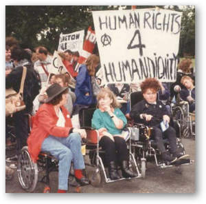 Picture of showing Disabled Women protesting (1990s)